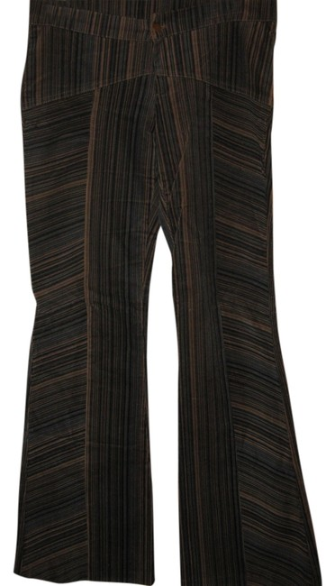 Other Corduroys Navy Flare Pants Blue/light blue/tan striped