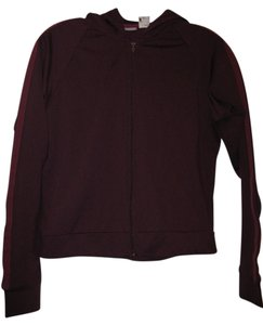 J.Crew J. Crew Gym maroon hooded jacket