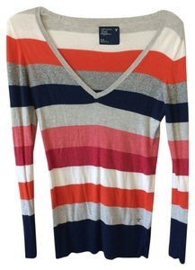 American Eagle Outfitters Ae Stripped Multicolor Sweater