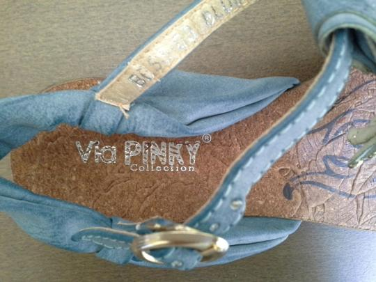 Via Pinky Collection Blue Sandals