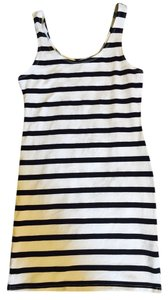 H&M short dress White Black Stripped on Tradesy