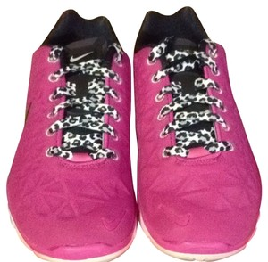 Nike Hot pink/leopard shoe strings Athletic