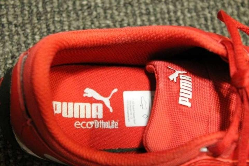 ac544a75875959 Puma Ferrari Leather Running Trainer Walking Light Weight Soft Red Athletic.  12345678