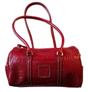 Liz Claiborne Faux Leather Satchel in Red