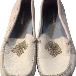 Hush Puppies white Flats