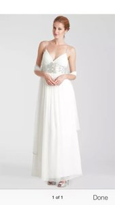 Js Collections Ivory Wedding Dress Size 10 M