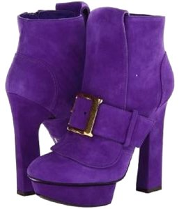 Alexander McQueen Big Buckle purple Boots