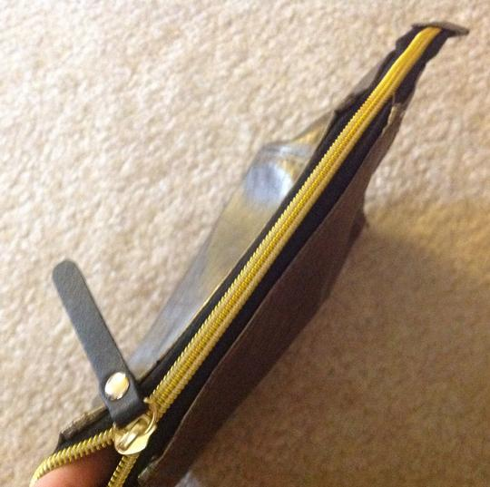 Twelve nyc Gold and black cosmetic case