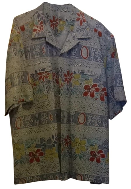 Pussers West Indies Button Down Shirt Blue