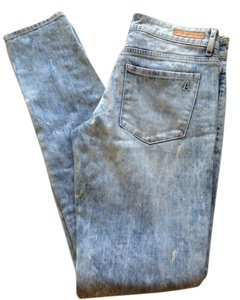 Articles of Society Acid Wash Skinny Jeans-Light Wash