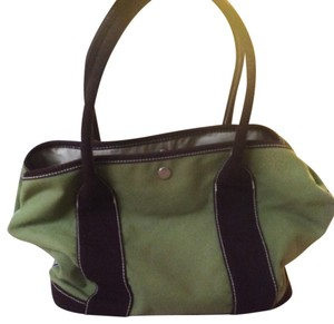 J.Crew Tote in Green and dark brown