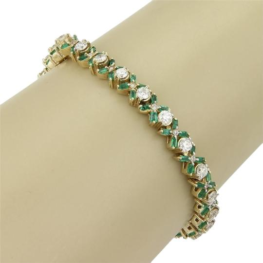 Preload https://item5.tradesy.com/images/other-estate-14k-yellow-gold-880ct-diamond-and-emerald-tennis-bracelet-3724069-0-0.jpg?width=440&height=440