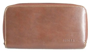 Rosetti Rosetti Wallet Brown Faux Leather Zipper Closure