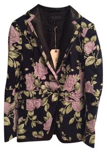 Rag & Bone & Floral Leather Floral, Navy Blazer