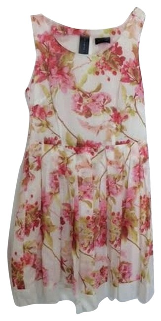 The Limited short dress Pink Floral White Knee Length on Tradesy