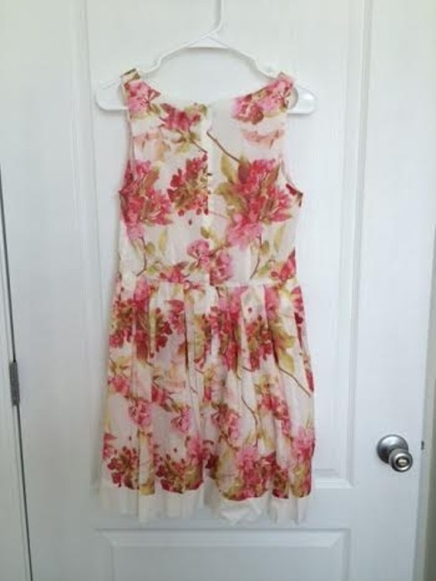 The Limited short dress Pink Floral Sun White Knee Length on Tradesy