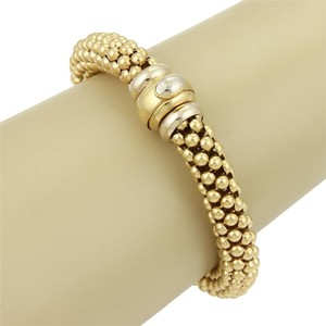 Fope (15243L) Fope Open Beaded Tube Designer Bracelet in 18k Yellow Gold - Made in Italy
