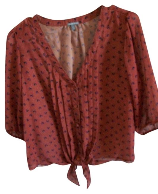 Charlotte Russe Front Orange Fall Top Red