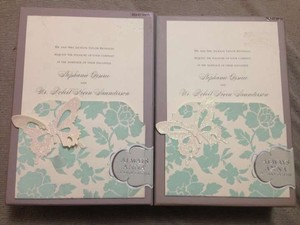 Anna Griffin Light Blue Two 25 Count Boxes Of Do It Yourself Wedding Invitation Kits - Floral Perfect For Every Type Of Wedding