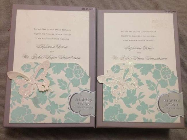 Item - Light Blue Two 25 Count Boxes Of Do It Yourself Wedding Invitation Kits - Floral Perfect For Every Type Of Wedding