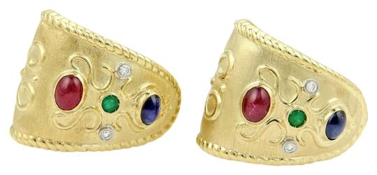 Preload https://item2.tradesy.com/images/other-estate-18k-gold-490ct-diamonds-rubies-sapphire-and-emerald-wide-huggie-earrings-3724951-0-0.jpg?width=440&height=440
