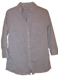Banana Republic Flare Back Button Down Shirt Blue/white checkered