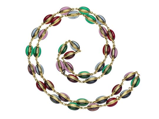 Chanel Chanel Vintage Gripoix Beaded Necklace