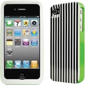 Kate Spade Kate Spade Hardshell Stripe Black White iPhone 4/4S Case Cover