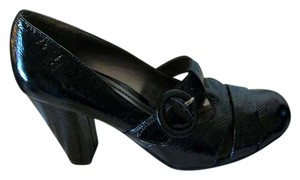 Kenneth Cole Black Buckle Heel Unlisted Pumps