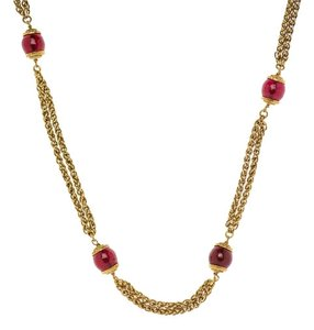 Chanel Chanel Vintage Gripoix Gold Necklace