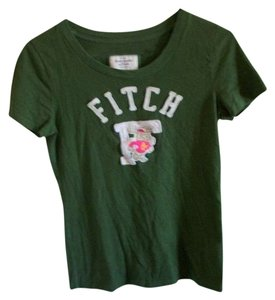 Abercrombie & Fitch Green Distressed T Shirt