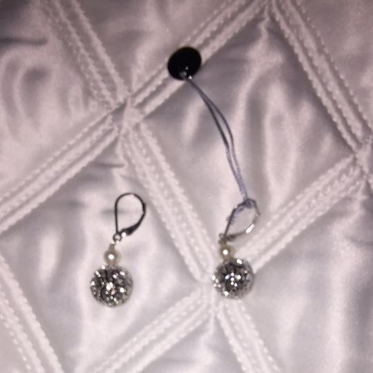 Other sterling silver and pear earrings