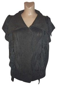 M.O.L. KNITS Fringe Cable Knit Sweater Vest