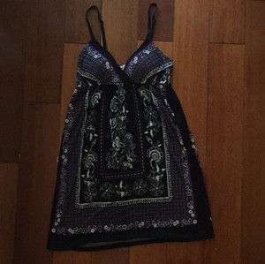 One Clothing short dress Black/Multi Comfortable Cover-up on Tradesy