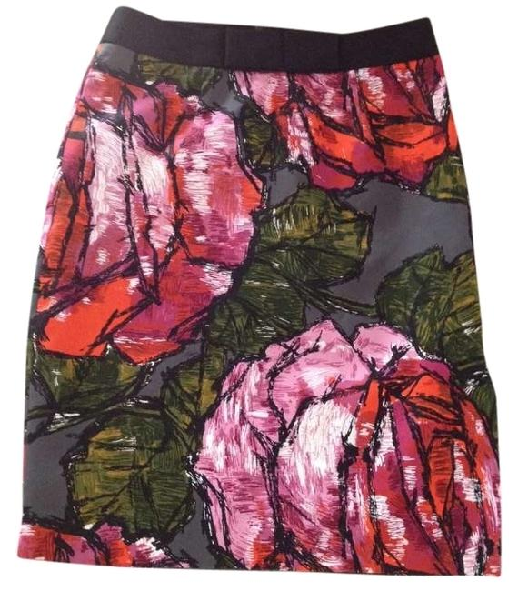 Preload https://item5.tradesy.com/images/trina-turk-gray-pink-mauve-orange-green-black-and-white-knee-length-skirt-size-2-xs-26-372644-0-0.jpg?width=400&height=650