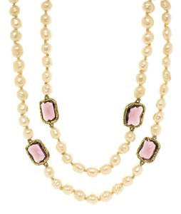 Chanel Chanel Baroque Pearl Chicklet Necklace