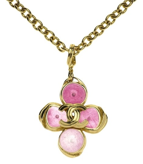 Preload https://item1.tradesy.com/images/chanel-pink-vintage-gripoix-cc-pendant-necklace-3726760-0-0.jpg?width=440&height=440