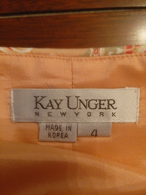 Kay Unger short dress Tan Paisley on Tradesy