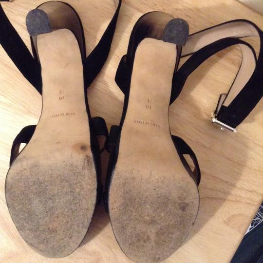 Michael Kors Leather And Suede Black Sandals