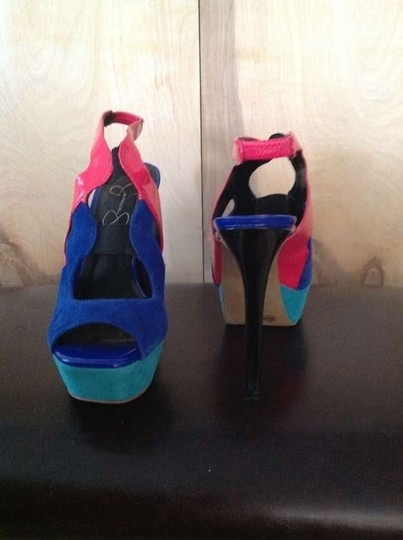 Jessica Simpson Holiday Holiday Party Tricolor Platforms
