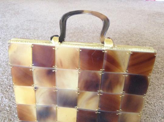 Other Vintage Brown, yellow Clutch