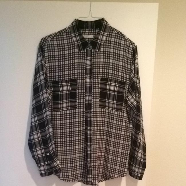 Equipment Button Down Shirt Black And White Image 2