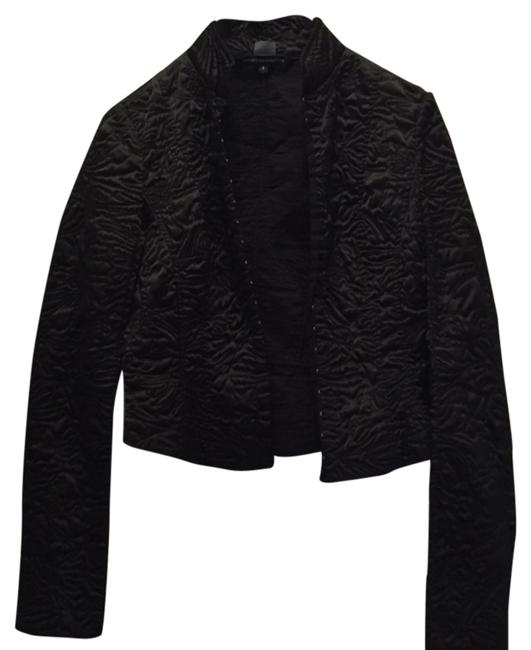French Connection Quilted Night Out Date Night Black Jacket