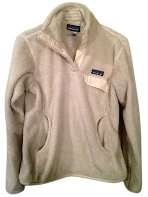 Preload https://item5.tradesy.com/images/patagonia-cream-pullover-fuzzy-winter-activewear-size-4-s-37274-0-0.jpg?width=400&height=650