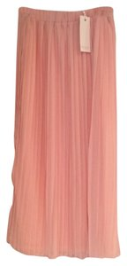 Piperlime Pleated Midi Sheer Skirt Light Pink