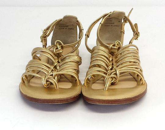 Coach Gillian Gold Leather Gladiator Sandals