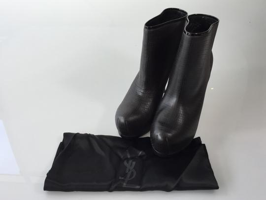 Saint Laurent Charcoal Grey Boots