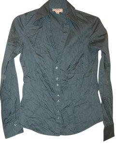 Ann Taylor LOFT Button Down Shirt Blue/green