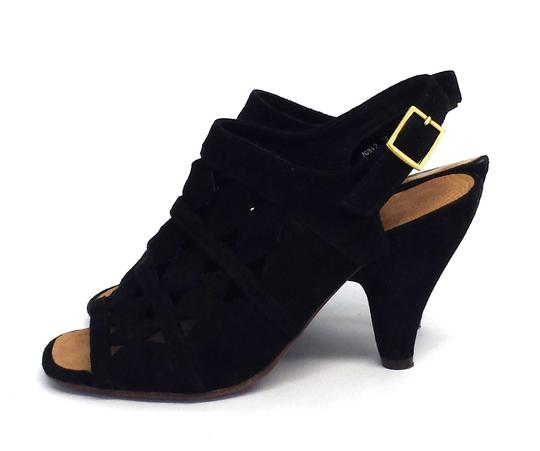 Chie Mihara Suede Cutout Slingback Heels Sandals
