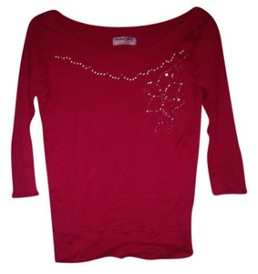 Michael Stars 3/4 Sleeve Top Red